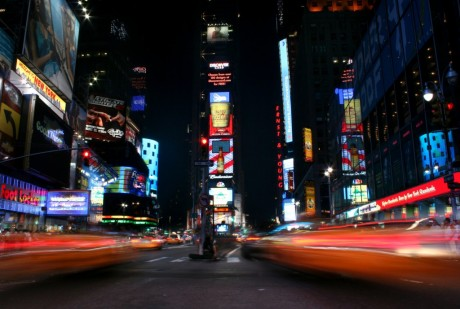 Times Square at night time