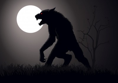 werewolf lurking in the night